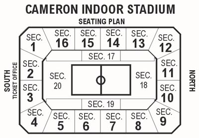Cameron Indoor Stadium Seating Odd Numbers Pictures To Pin